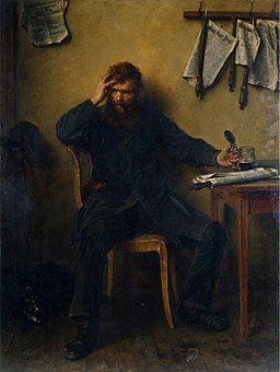 Ludwig Knaus - Der Unzufriedene (1877)
