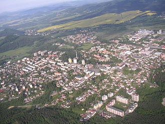Nový Bor - Aerial picture of Nový Bor
