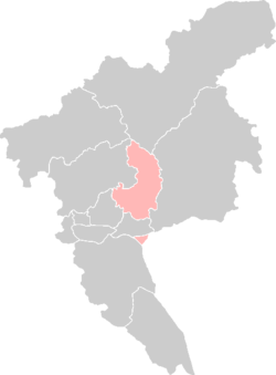 Location of Luogang