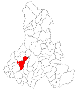 Location of Lupeni, Harghita