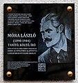 Móra László plaque Bp03 Bécsi út 375.jpg