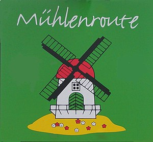 Westphalian Mill Route - Logo of the mill route