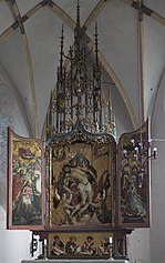 München-Obermenzing Schlosskapelle Blutenburg Hauptaltar 624.jpg