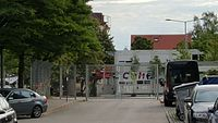 München — Tegernseer Landstraße Stadelheimer Straße (Wohncontainer).JPG