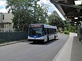 MBTA route 712 bus arriving at Orient Heights, July 2015.JPG