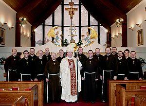 Robert Joseph Baker - Bishop Robert Baker with Friars