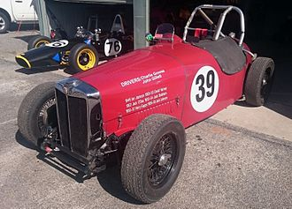 1950 Australian Grand Prix - The MG TC Special with which David Harvey recorded fourth fastest time and placed second on handicap. (Pictured in 2016)