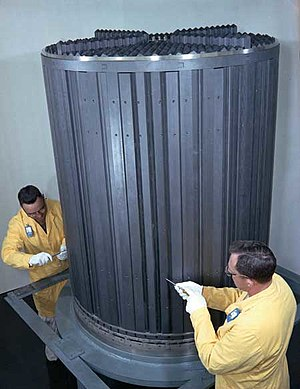 Breeder reactor - The graphite core of the Molten Salt Reactor Experiment