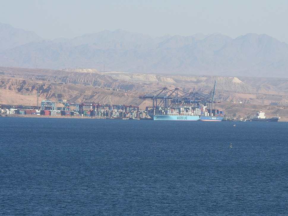 Maersk at Aqaba container port