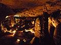 Magura cave, Poplar hall - stalagmite - Пещера Магурата, Зала на тополата - сталагмит - panoramio (1).jpg