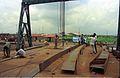 Main Auditorium Structural Fabrication - Convention Centre Complex Under Construction - Science City - Calcutta 1994 367.JPG