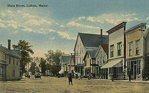 Lisbon, Maine - Main Street c. 1914