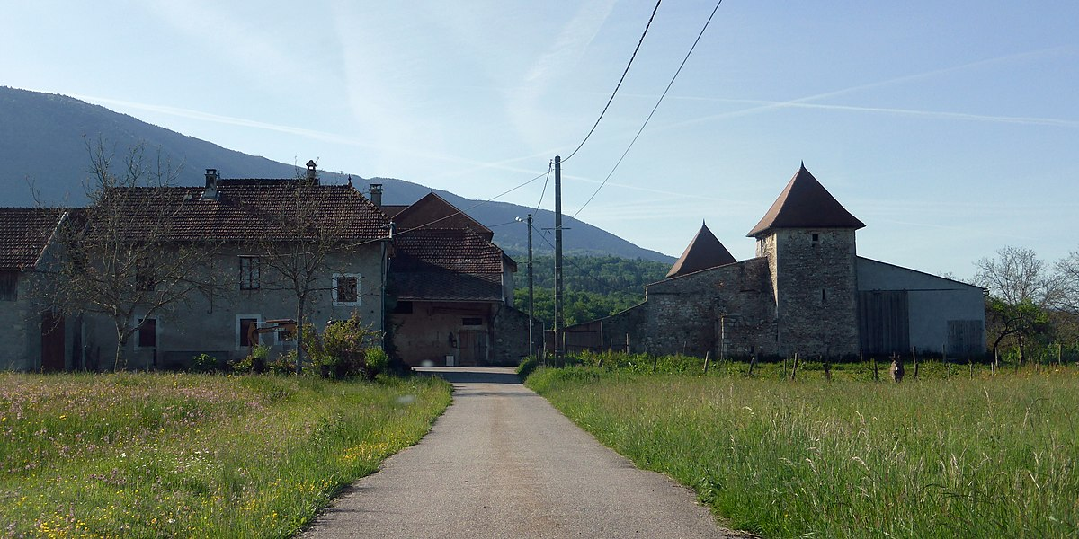Le Châtelard fortified house, Yenne, Savoie, Rhône-Alpes, France.