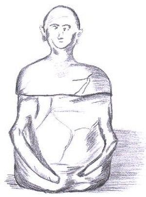 Maitum Anthropomorphic Pottery - Sketch of an anthropomorphic jar