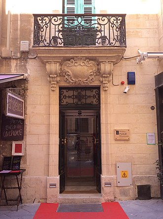 Malta Postal Museum - Main entrance of the museum
