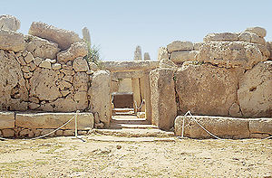 The Mnajdra megalithic temple complex