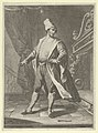 Man in Venetian costume standing before a large fireplace, right arm outstretched MET DP853462.jpg