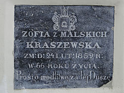 Manor of Kraszewski family in Romanów – Chapel - Epitaphs - 04.jpg