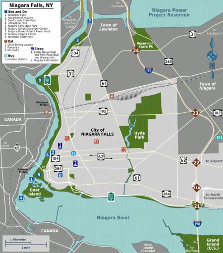 Niagara falls new york travel guide at wikivoyage overview map of niagara falls publicscrutiny Choice Image