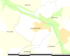 Map commune FR insee code 29126.png