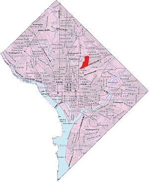 Edgewood (Washington, D.C.) - Image: Map edgewood