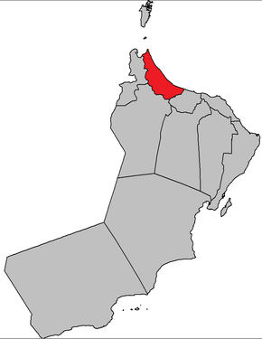 Map of Al Batinah North Governorate.png