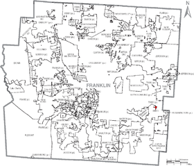 Map of Franklin County Ohio With Brice Labeled.png