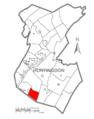 Map of Huntingdon County, Pennsylvania Highlighting Wood Township.PNG