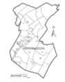 Map of Huntingdon County, Pennsylvania No Text.png
