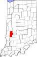 Map of Indiana highlighting Clay County.svg