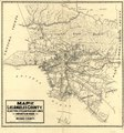 Map of Los Angeles County - electric, steam railway lines, and mountain guide and also portion of Orange County LOC 2006627661.tif