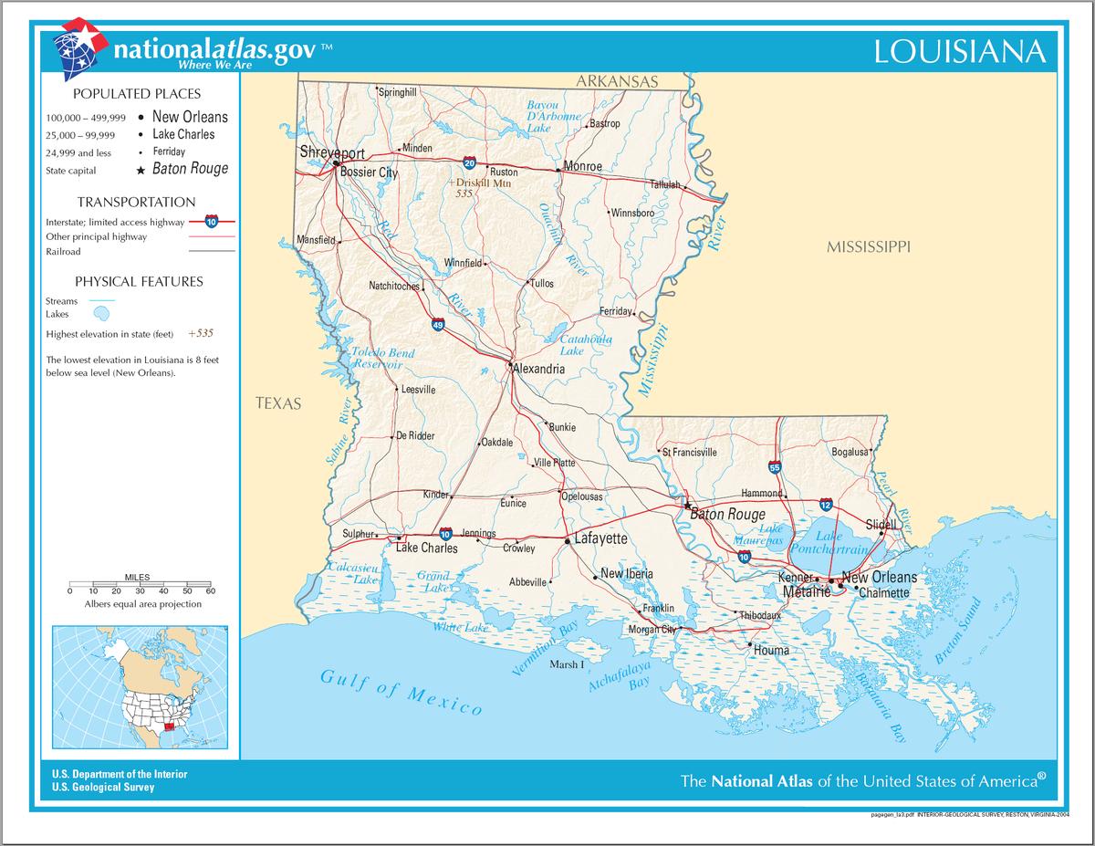 Liste der Ortschaften in Louisiana –