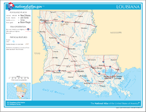 Outline of Louisiana - An enlargeable map of the state of Louisiana