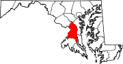 Map of Maryland highlighting Prince George's County.svg