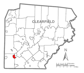 Map of New Washington, Clearfield County, Pennsylvania Highlighted.png