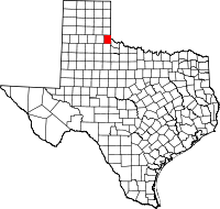 Map of Тексас highlighting Childress County