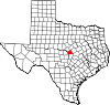 State map highlighting Lampasas County