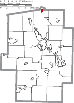 Location of Bolivar in Tuscarawas County