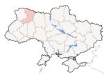 Oblast di Rivne - Mappa di localizzazione