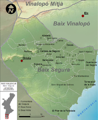 Municipalities of Vega Baja del Segura