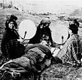 Mapuche medicine woman treating a patient, South Chile. Wellcome M0005985.jpg