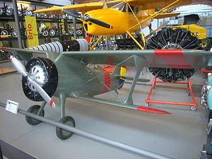 Maqueta d'avió Polikarpov I-15.JPG