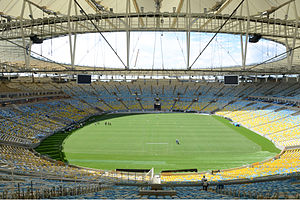 Football at the 2016 Summer Olympics - Image: Maracana internal view april 2013