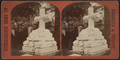 Marble cross, Greenwood Cemetery, from Robert N. Dennis collection of stereoscopic views.png