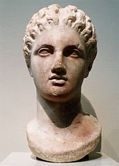 Marble head of a goddess