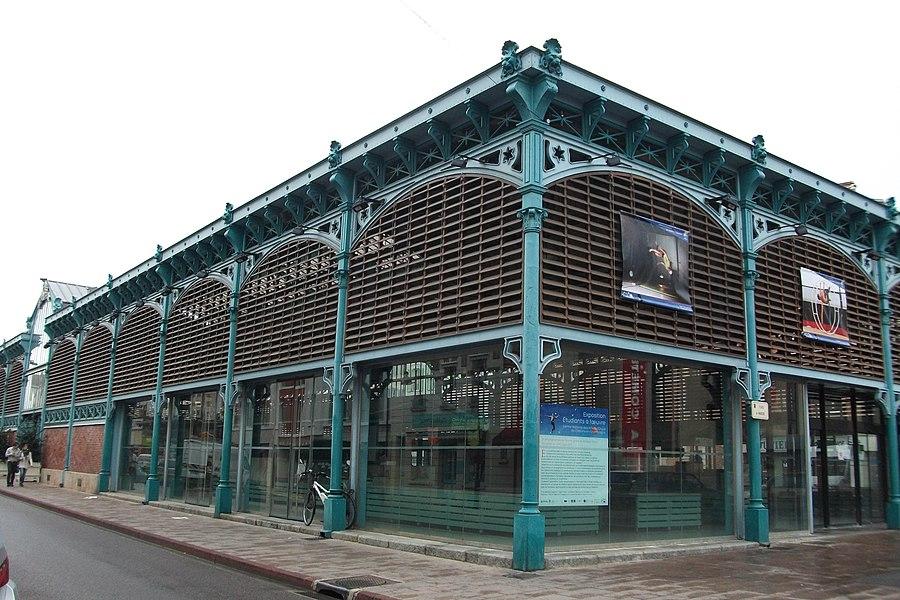 Monument historique sur le modèle des pavillons Baltard, le Marché couvert.