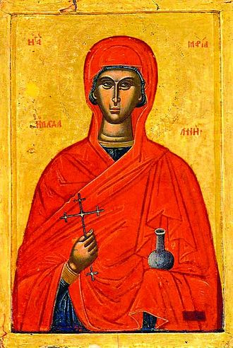 Myrrhbearers - Icon of Mary Magdalene as a Myrrhbearer.