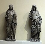 Maria and Elizabeth from Bamberger Dom (before 1237) replica 01 in Pushkin museum by shakko.jpg