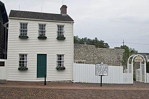 Mark Twain's boyhood home in Hannibal, Missouri.
