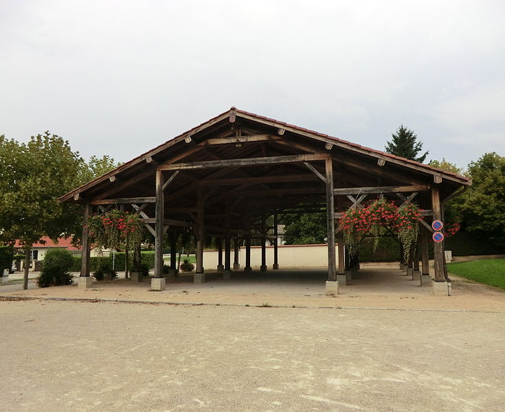 Market hall of Sainte-Croix (Ain).